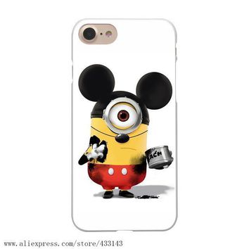 Lavaza Despicable Me Minions Hard White Coque Shell Phone Case for Apple iPhone