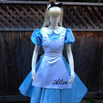 Alice in Wonderland Park Version Adult Costume Custom Made