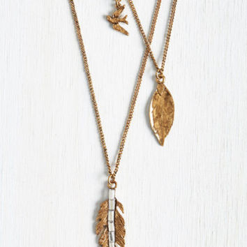 Boho Plume of My Own Necklace by ModCloth