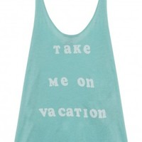 Boutique 1 - WILDFOX - Blue Take Me On Vacation Tank | Boutique1.com
