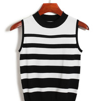 Sleeveless Striped Streaks Top