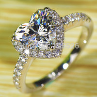 Victoria White Topaz Heart Ring