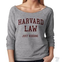 Harvard Law Raglan