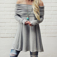 The Bailey Tunic Tee in Gray