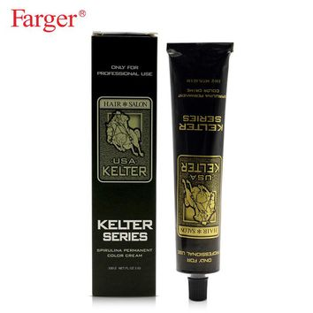 Kelter free shipping hair color dye cream permanent hair dyeing non-toxic hair style cream 100ml