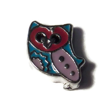 Owl Charm for Floating Lockets - Old School Geekery Brand Locket Charms - Cute Trendy Bird Charm