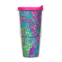 Lilly Pulitzer Insulated Tumbler with Lid- Lilly Lagoon