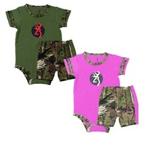 Browning Baby Bear Camo Short Set