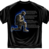 United States Marine Corps Soldier's Prayer Army Public Service T-Shirt - Medium