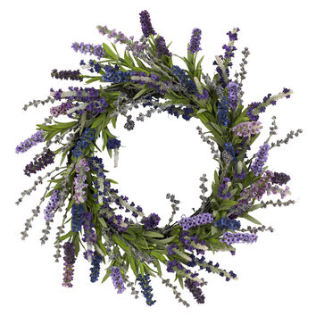 Round 20-inch Lavender Wreath | Overstock.com Shopping - The Best Deals on Silk Plants