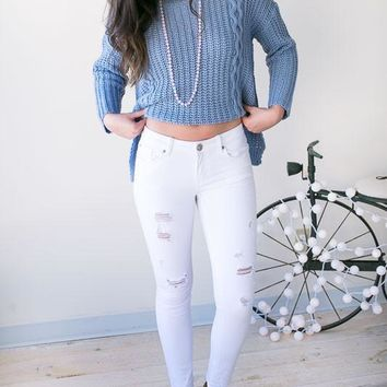 Premium Quality White Ripped Jeans