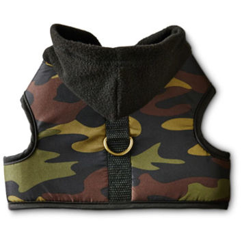 Petco Wag-a-tude Hooded Camo Dog Harness