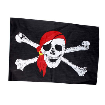 New Garden Banner Pirate Flags Jolly Roger Skull Crossbones For Halloween Home Party Club Festival Decoration #KF