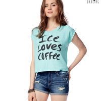Tokyo Darling Iced Coffee Cropped Graphic T