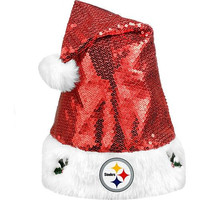 Pittsburgh Steelers Sequin Santa Hat - http://www.shareasale.com/m-pr.cfm?merchantID=7124&userID=1042934&productID=555884852 / Pittsburgh Steelers