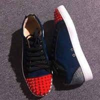 Christian Louboutin CL Low Style #2056 Sneakers Fashion Shoes Best Deal Online