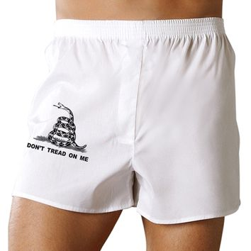 Subdued Don't Tread On Me Gadsden Flag Rattlesnake Boxers Shorts