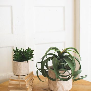 Set of 2 Cement Sack Planters