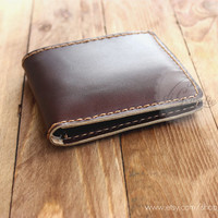Мinimal wallet мens leather wallet billfold leather wallet slim wallet brown leather wallet genuine leather wallet Italian leather wallet
