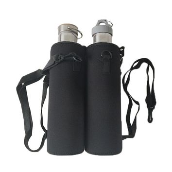 Strap Neoprene Insulated Water Bottle Cover Bag