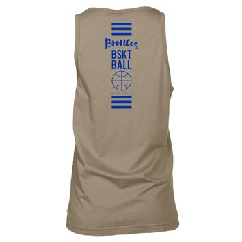 Official NCAA Boise State Broncos BSU Buster Bronco	Women's Boyfriend Fit Tonal Pocket Sleeveless Durable Soft O-Neck  Premium Tank Top