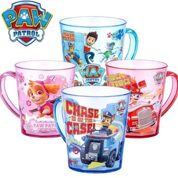 New Genuine Paw Patrol Eco-friendly tritan material hand shank cup drink cup kids toy 2018 new arrival hot sale skye ryder chase