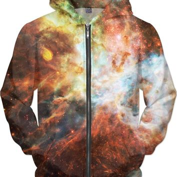 Tarantula Nebula Red | Universe Galaxy Nebula Star Clothes | Rave & Festival Shirt