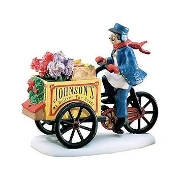 Department 56 Heritage Village Collection Johnson's Grocery... Holiday Deliveries 58897