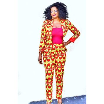 JOKO African Print Blazer And Pant Suit