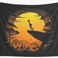'The Circle of Life' Wall Tapestry by RiverartDesign