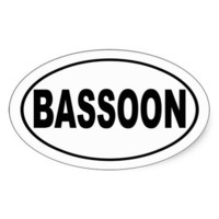 Bassoon Bumper Sticker from Zazzle.com