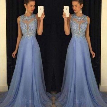 ONETOW 2018 Newest Sexy Solid Women Long Party Ball Prom Gown Formal Bridesmaid Lace Dress