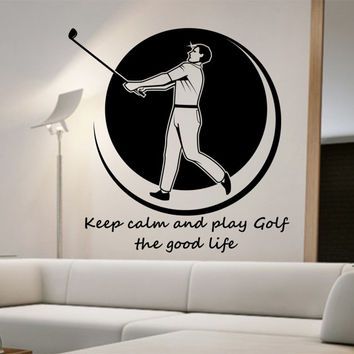 Golf Wall Decal THE GOOD LIFE  Sticker Art Decor Bedroom Design Mural sports lifestyle work out home decor