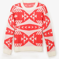 Boxy Geo Pattern Sweater | FOREVER 21 - 2050925714