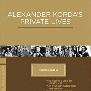 Charles Laughton & Robert Donat & Alexander Korda & Paul Czinner-Eclipse Series 16: Alexander Korda's Private Lives (The Private Life of Henry VIII / The Rise of Catherine the Great / The Private Life of Don Juan / Rembrandt)