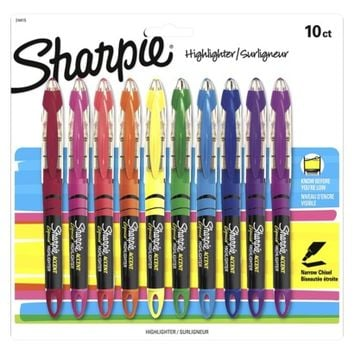 Sharpie 10ct Liquid Highlighters - Assorted Colors