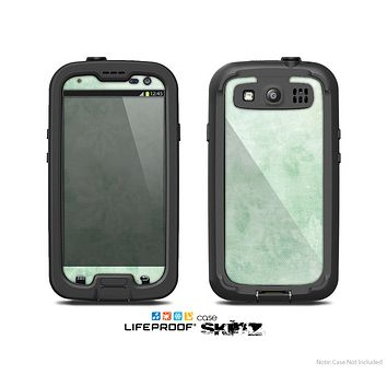 The Vintage Grungy Green Surface Skin For The Samsung Galaxy S3 LifeProof Case