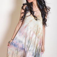 Earth Tie Dye Mini Dress