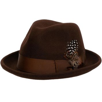 Blues Wool Fedora by Bruno Capelo