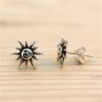 Silver Happy Sunshine Stud Earrings