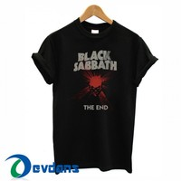 black sabbath the end logo T-shirt men, women adult unisex