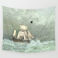 Breaking waves still Wall Tapestry by anipani