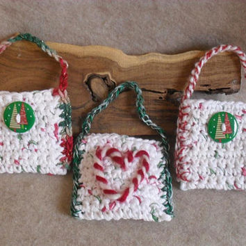 Christmas holiday hanging Gift Card or Treat Holders  (choose 1+)