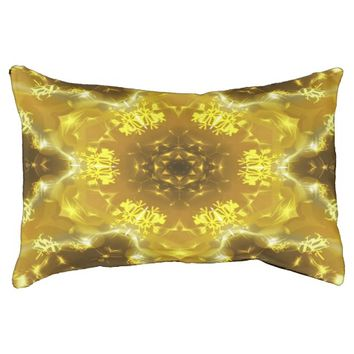 Golden Kaleidoscope Dog Bed
