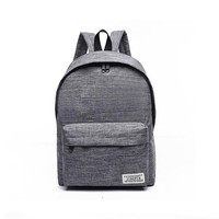 Women Men Boy Girl Canvas Backpack School Bags Laptop Travel Backpacks