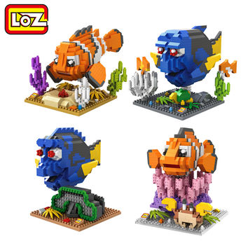 LOZ Finding Dory Nemo Figure Building Blocks Toy Clownfish Regal Blue Tang Fish Assemblage Figure Toy Christmas gift 14+ Anime