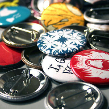 Grab Bag 10 Pinback buttons by BayleafButtons on Etsy
