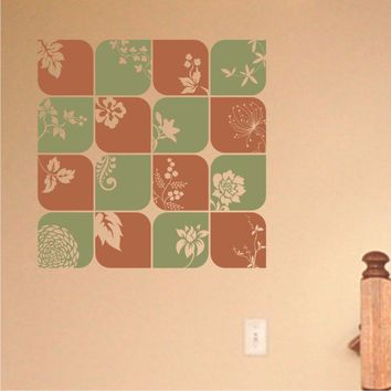 Nature Squares - vinyl wall decal art