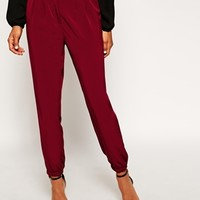 ASOS Trousers with Elastic Ankle Detail at asos.com