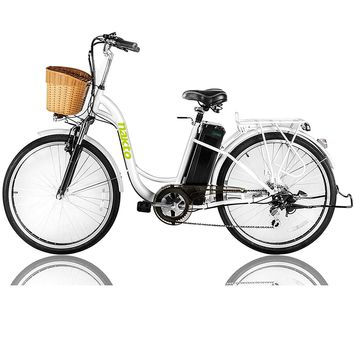 """NAKTO Electric Bicycle Sporting Shimano Speed Gear EBike Removable 36V10A Lithium Battery,Charger Lock(20""""/26"""")"""